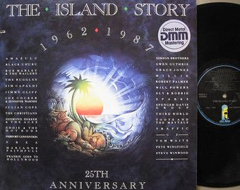 "VARIOUS ARTISTS ~ 1987 ""Island Records Story"" 2-LP set 25th Anniversary Collection (Island 90684-1) in NEAR-MINT to MINT COND. (no marks, no scratches, no fingerprints).  Contains 31 great hits released  on Island Records during the years 1962-1987.  ($24.99)  Etsy.com / Amazon.com"