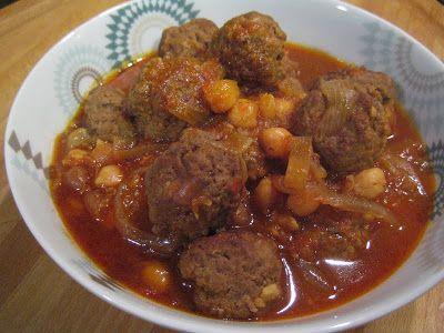 Dawood Basha (or Daoud Pasha, as it is spelled some times) is meatballs cooked in tomato sauce and served with rice or Bulgar wheat pilaf. Chickpeas is an optional ingredients some people in Damascus like to add. The dish is a simple comfort food..... (Syrian Foodie in London)