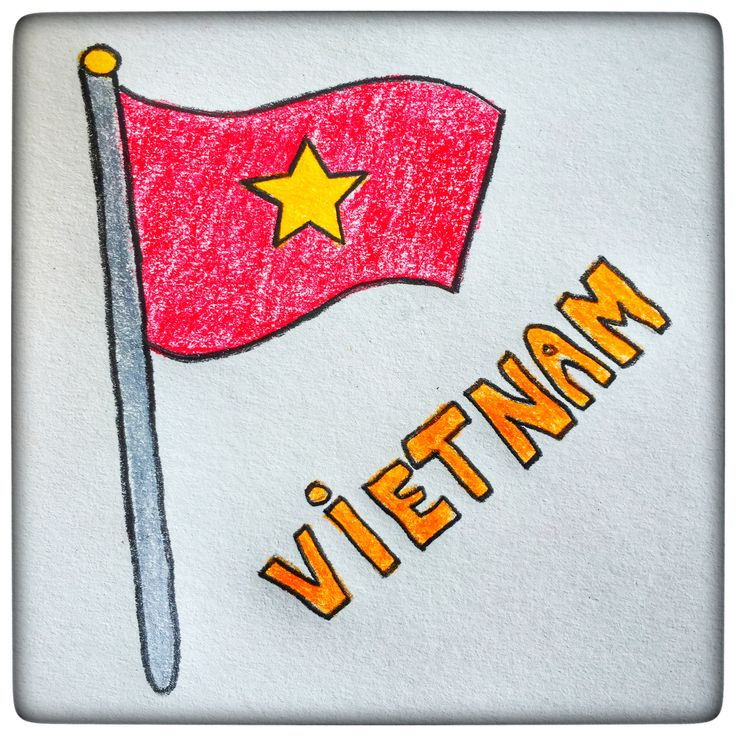 A red rectangle with a gold star in the centre, that's Vietnam's flag. Red symbolizes the revolution and the blood. The star symbolizes the 5 classes in Vietnamese society: intellectuals, farmers, workers, businessmen and military personnel. Pretty much the same symbolism that we find in China's flag.