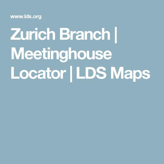 Zurich Branch   Meetinghouse Locator   LDS Maps