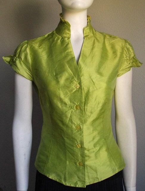 Vintage Silk Blouse by  ADOLFO DOMINGUEZ
