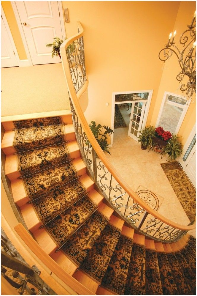 Foyer Staircase Runners : Stunning stairwell perspective staircase traditional