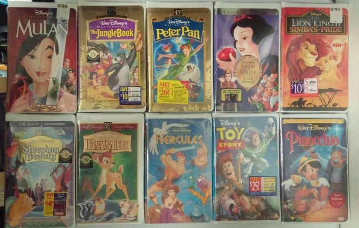 LOT OF 10 New Sealed - Disney Masterpiece VHS - Hercules Mulan Bambi Peter Pan