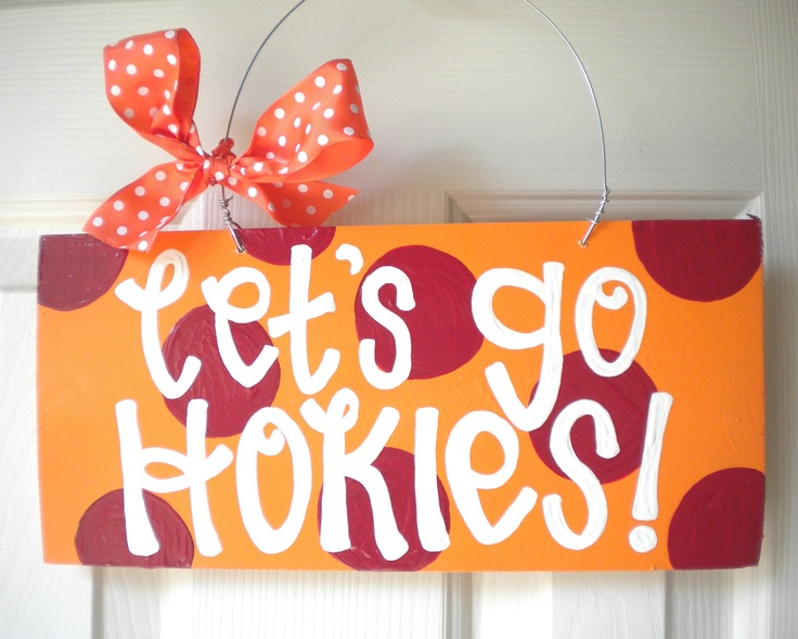 Your Favorite College or Pro Team Polka Dot Sign - cute polka dot signs - college team signs - football signs. $27.95, via Etsy.