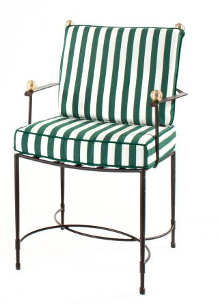 AMALFI HOST CHAIR   Upholstery U0026 Contrast Piping Can Be Changed. Made In  The USA