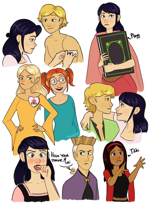 miraculous ladybug | Tumblr Am I right to assume this is based from 'Ella enchanted', (is that even what it's called?)