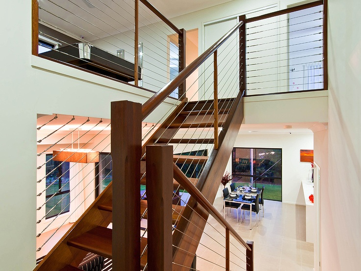 This staircase really opens the room up and reduces the wasted space that a normal staircase provides.