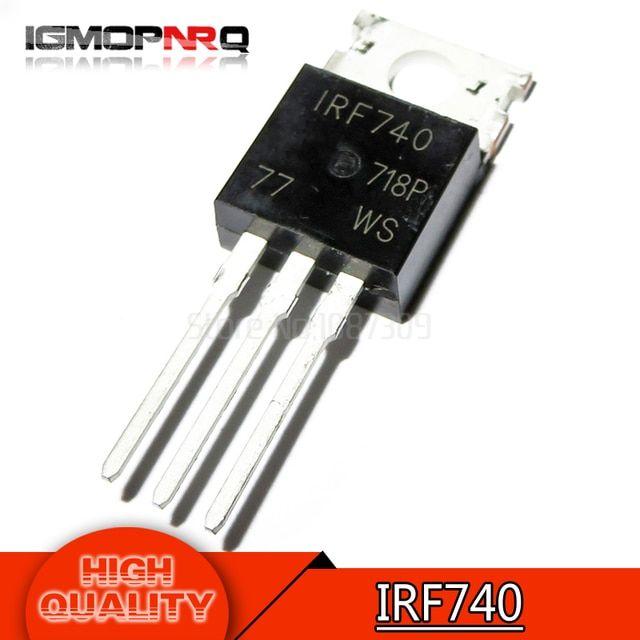 20pcs Nouveau IRF740 IRF 740 Power MOSFET 10 A 400 V TO-220