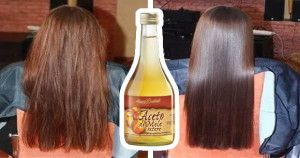 aceto di mele capelli