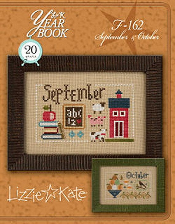 OUT OF PRINT Yearbook November /& December Lizzie Kate Counted Cross Stitch Chart Pattern Lizzie Kate Double Flip F163 16-2254