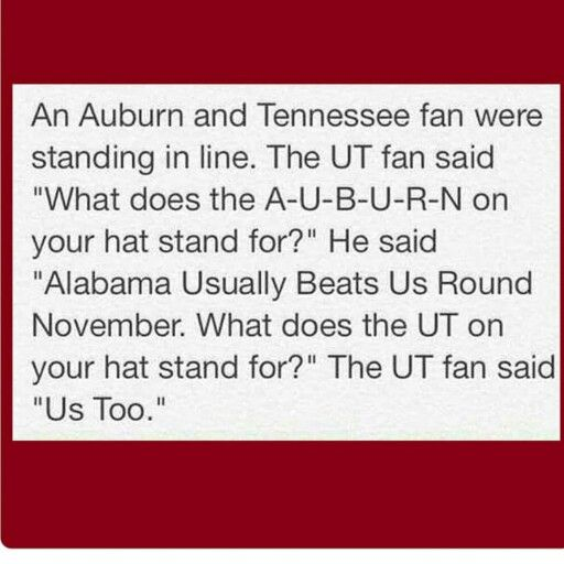 To funny!!!! Roll Tide Roll Bama Fans!!!!                                                                                                                                                                                 More
