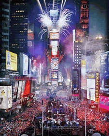 New Years Eve in New York, definitely something I would like to do some day~~ #bucketlist