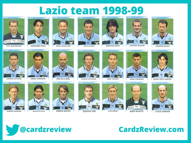 AS Lazio players from Panini Calciatori album 98/99.