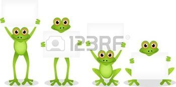 dessin anim� grenouille dr�le avec le signe vierge photo