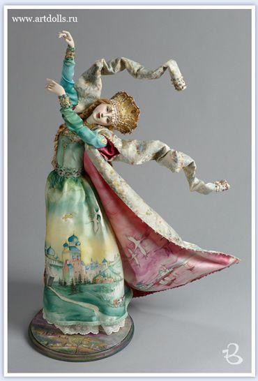 Ким Элла. Авторская кукла. Фарфор. Лебедушка