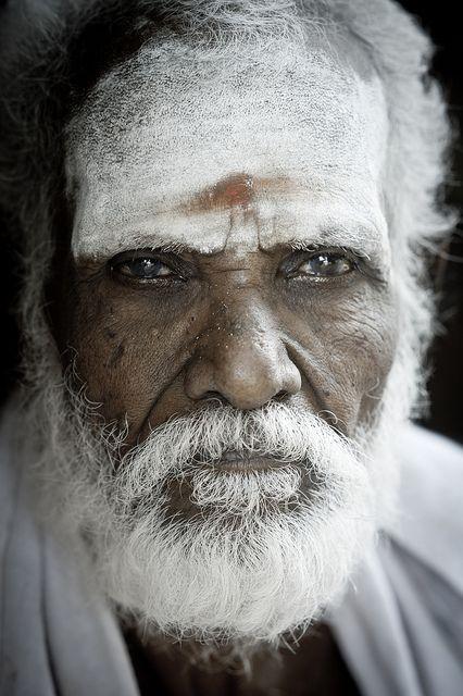 Man at Brahadeswara Temple, India