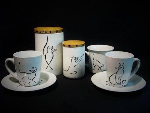Ideas art for everyone, DIY - Joanna Wajdenfeld: Drawings on ceramics - females