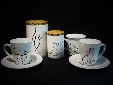 Ideas art for everyone, DIY - Joanna Wajdenfeld: Drawings on ceramics - females