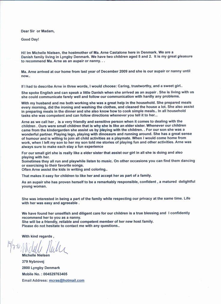 Letter Of for Nanny Luxury Job Offer Letter