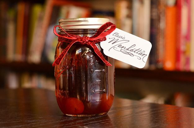 Batched Manhattans  Makes 3 pint jars; each pint contains 4 Manhattans INGREDIENTS 24 ounces rye whiskey (from 1 750mL bottle) 12 ounces swe...