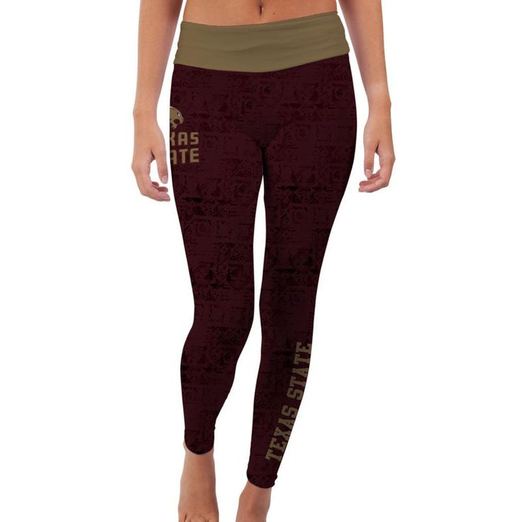 Texas State Bobcats Women's Made Loyal Leggings - Maroon