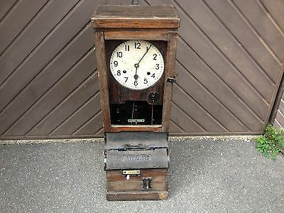 antique/vintage national clocking in clock