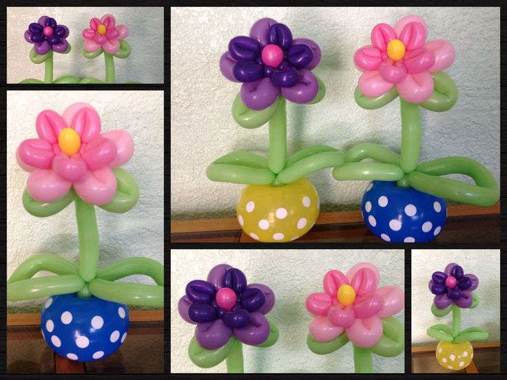 how to make flower balloon twisting