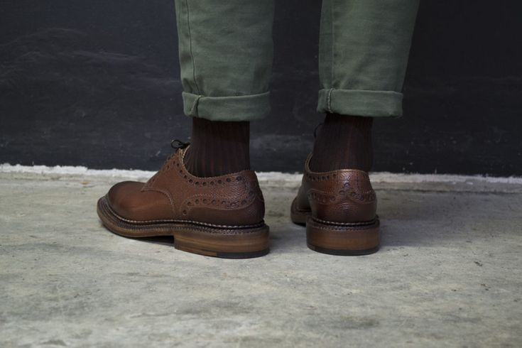 // William in Dark Brown //   Shop here: http://www.grenson.com/uk/william-mens-brogue-dark-brown-burnished-calf-grain-leather-triple-welt-leather-sole-neighborhood-by-grenson.html