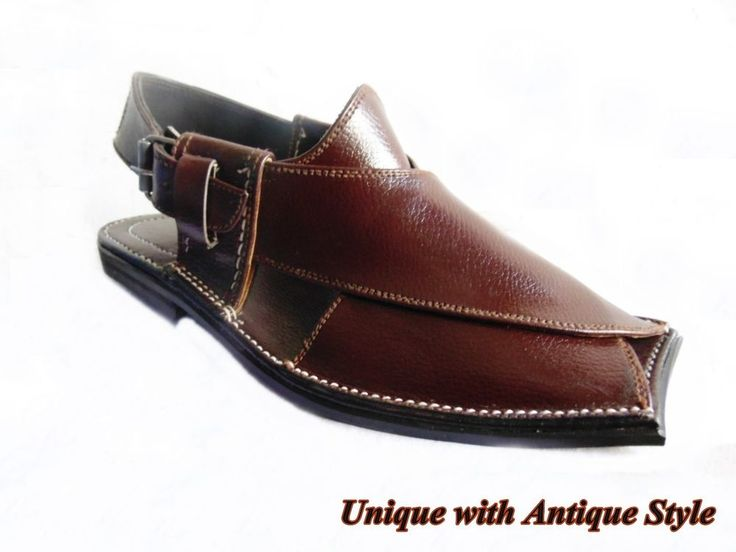 Us 7,8,9,10,11men's handmade brown banuu leather peshawari chappel