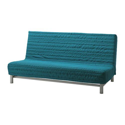 BEDDINGE LÖVÅS Canapea extensibilă 3locuri - Knisa turcoaz - IKEA