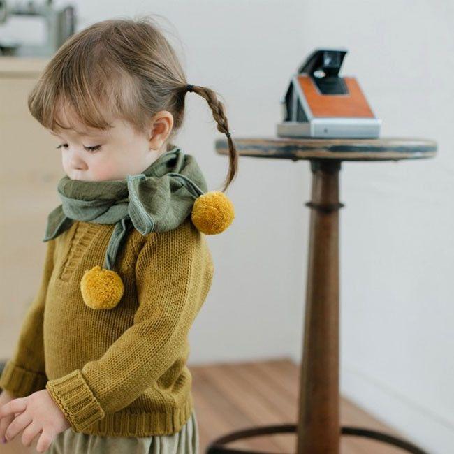 Baby Accessories Ivory Dorothy Pom Pom Scarf