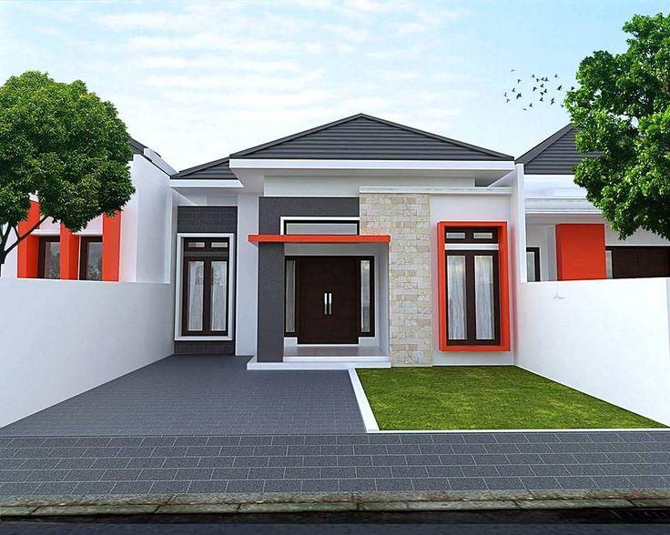 Desain Rumah Minimalis Type 36 Tampak Depan 1 Lantai Dengan Teras Batu Alam
