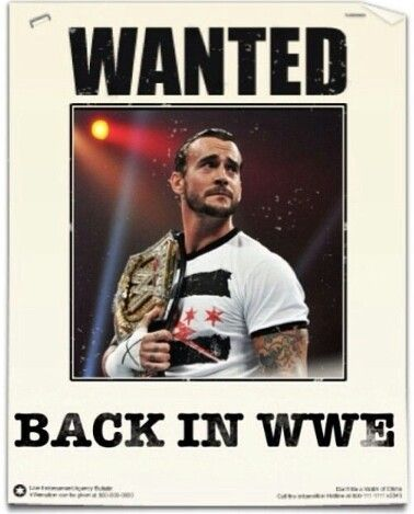 CM Punk is WWE. I haven't watched wrestling since he left.