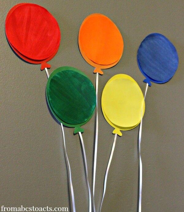 preschool circus theme activities - balloon color matching