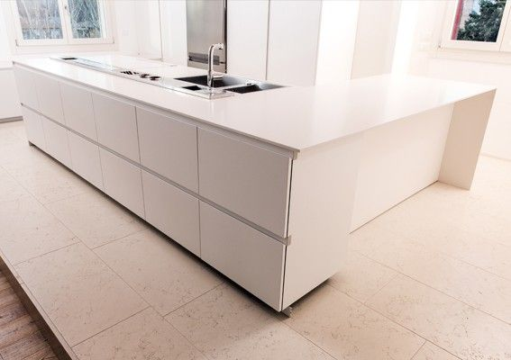 Piano #cucina in #lapitec Bianco Polare #kitchen #design #arredamento #gres