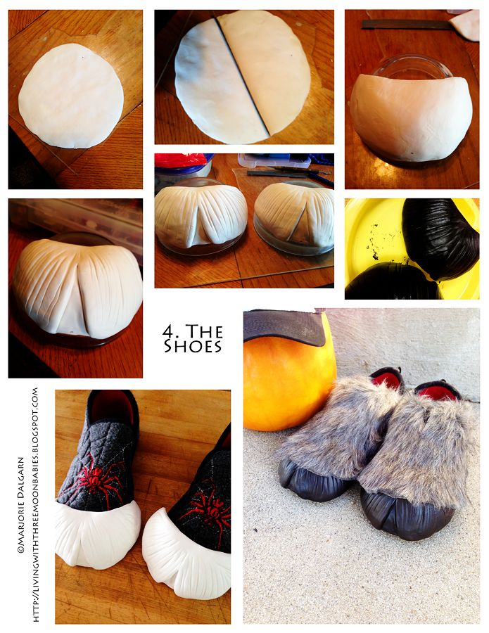 living with ThreeMoonBabies | Satyr Costume: the shoes (hooves)