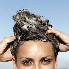 Clean hair.  Have unusually oily hair? Add nine tablespoons of Epsom salt to a half cup of shampoo to help soak up excess oil and leave your locks clean.