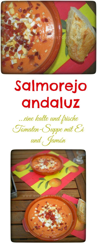 Eine leckere, kalte, spanische Suppe. Salmorejo. Aus frischen Tomaten…Es gibt nichts Besseres bei heißen Temperaturen. Dazu noch frisches Baguette und schon hat man das perfekte Abendessen.