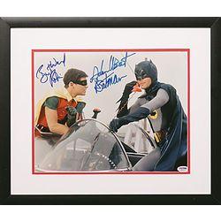 Autographed Batman and Robin Photo