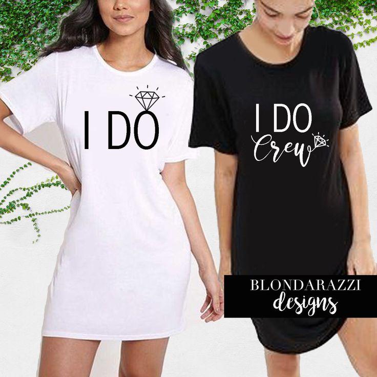 Ich mache Crew Braut und Brautjungfer Schlaf Shirts lange Tunika Stil Bachelorette Hochzeitstag immer bereit Outfits