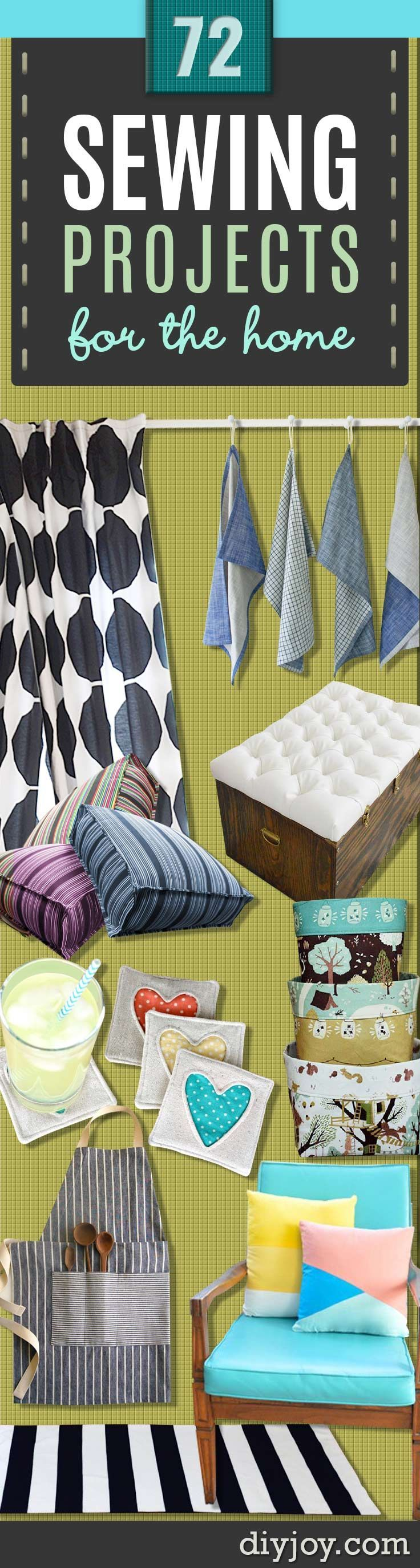 Sewing Projects for The Home - Free DIY Sewing Patterns, Easy Ideas and Tutorials for Curtains, Upholstery, Napkins, Pillows and Decor http://diyjoy.com/sewing-projects-for-the-home