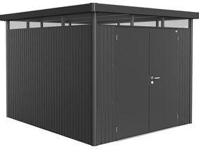Biohort Gerätehaus HighLine Größe H5 Dunkelgrau-Metallic Doppeltür