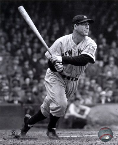 """One of the most well known Yankees this is Lou Gehrig. He made his debut to the MLB on the Yankees in 1923, and his last appearance was also on the Yankees in 1939. He was nicknamed """"The Iron Horse"""". His batting average was .340. He was voted the best 1st baseman of all time. He died of Amyotrophic lateral sclerosis or """"Lou Gehrigs Disease."""