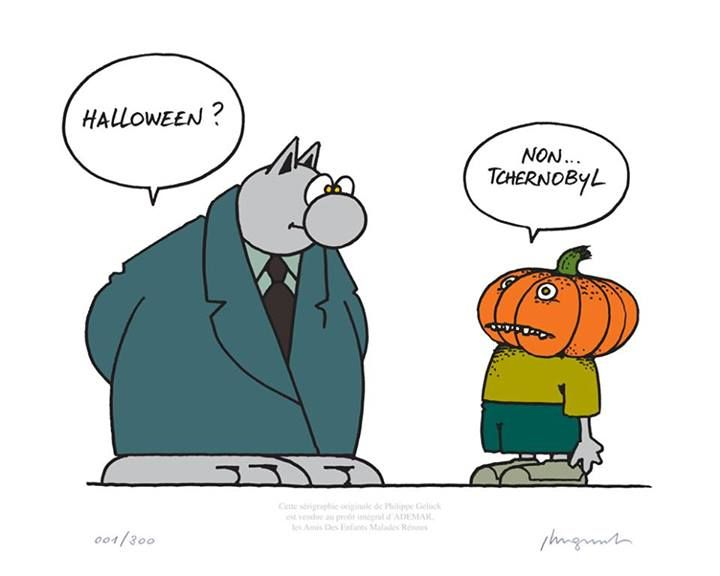 Happy halloween by geluck le chat pinterest humor - Dessin chat humour ...