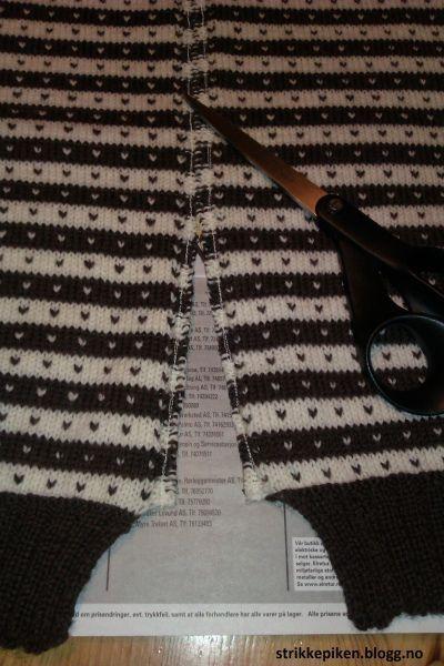 Fordelen med rundstrikkede plagg er at dem er enkle og strikke, til tross for mønster. Det som er...