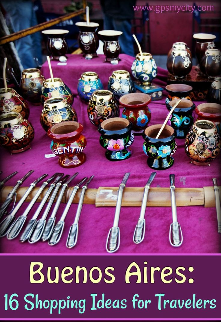 This Buenos Aires shopping guide is to help you steer yourself in the right direction towards some of the most notable items closely associated with Argentinian way of life.