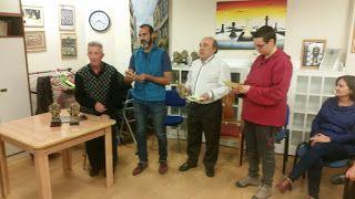 Ricardo Lamarca, Javier de los Nietos (alcalde de BCM),  Ángel Rodríguez del Moral (Tercer Premio I Torneo Mataelpino) Inés Gorospe (Concejala de Cultura) y  Florentina Carrasco (Concejala de MedioAmbiente)