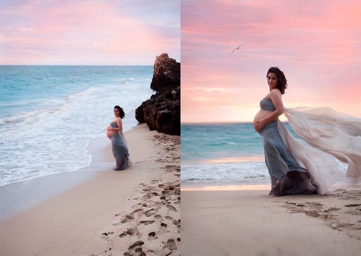 maternity session at sunset
