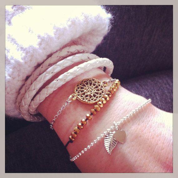 Bracelets fabriqué à la main à Montréal. Créatrice Isabelle Trahan, Si Simple http://www.etsy.com/shop/sisimple