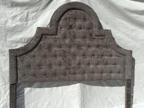 this listing is for a king size headboard ready to ship  king size headboard upholstered in a beautiful grey velvet fabric - Upholstered Headboard King